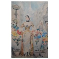 Fabio FABBI (1861-1946) Italian Watercolour Painting Rosina