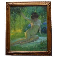 Jules René HERVÉ (1887-1981) Nue Assise c1930 Oil Pastel