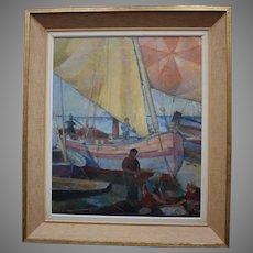 Axel WALLERT (1890-1962) Art Deco 1925 Fishing Boats
