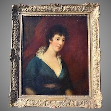 "Scottish School Portrait c1800 ""A Lady of Quality"""