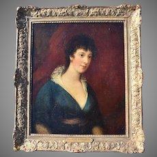 "Scottish School Portrait c1800 ""A Lady of Quality"""