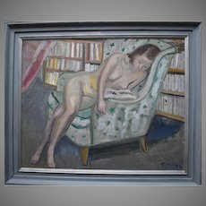 Gustav Gideon Börje (1891-1965) Nude Reading 1943.