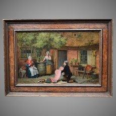 John Watkins CHAPMAN (1853-1903) English School The Pedlar. Genre Oil Painting.