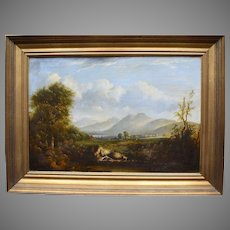 """""""Cameron"""" Early 19thC View of Belfast Northern Ireland. Oil Painting."""