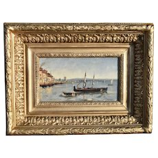 French school late 19th Century Fishing Boats at Anchor