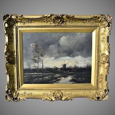 Jan van Couver (1836-1909) Dutch School.