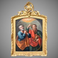 Saint Peter & Saint Paul. Italian Roman School c1700.