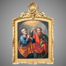 Saint Peter & Saint Paul. Italian Roman School c1700.