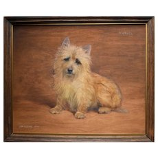 "Frances Mabel HOLLAMS (1877-1963) ""Michael"" Cairn Terrier"