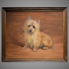 "Frances Mabel HOLLAMS (1877-1963) ""Michael"" Cairn Terrier"