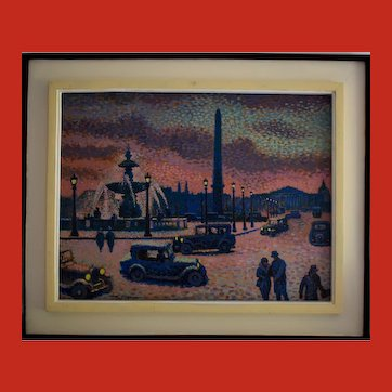 Lucien Maxime ROUBINET (1926) French Pointilliste Oil Painting
