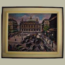 Lucien Maxime ROUBINET (1926) Paris, Opera House c1946