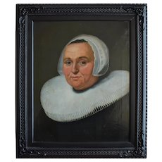 Manner of Verspronck 17th Century Style Portrait Oil Painting