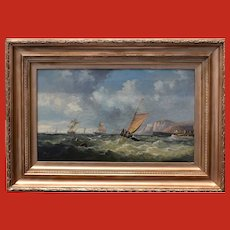 John James WILSON RBA (1818-1875) Seascape 1870