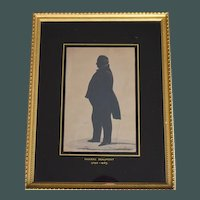 William Hubard (1807-62) Portrait Miniature Silhouette of Phineas Beaumont