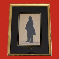 William Hubard (1807-62) Portrait Miniature Silhouette of Phineas Beaumont