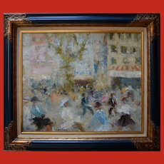 Jacques BARTOLI (1920-1995) Place Puget Toulon French Impressionist