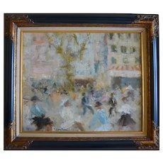 Jacques BARTOLI (1920-1995) Place Puget Toulon French Impressionist