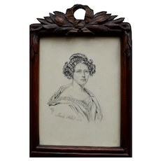 Maria RÖHL (1801-1875) Portrait Miniature c1840