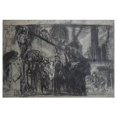 Frank BRANGWYN (1867-1956) Charcoal Drawing