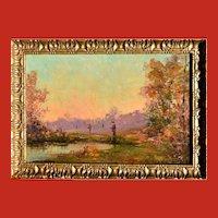 Alexandre ISAILOFF (1869-1923) Hunters at Dawn