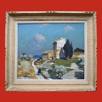 "Gustave Vidal (1895-1966) French Post Impressionist ""Provence"" Oil Painting."