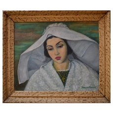 Marguerite BARRIERE-PRÉVOST (1887-1981) French School Breton