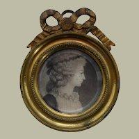 Rare French Physiognotrace c1798 Portrait Miniature