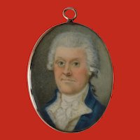 British Modest School Portrait Miniature c1770
