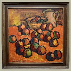 Teodors ULDRIKIS (1909-1973) Latvian Apples  1966