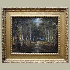 Paolo MANZONI (c.1825-1906) Barbizon School Landscape c1880