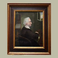St Ivo Patron Saint of Lawyers 19th Century Oil Painting
