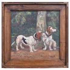 Maurice Emile Vieillard (1867-1947) Basset Hounds