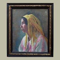 Suzanne BERNOT (1899-1982) French Orientalist School Portrait c1925