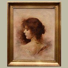 La Belle Epoque Portrait of Madame Cheron 1898