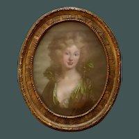 Emma Hamilton Manner of Angelica Kauffman (1741-1807) Oil Pastel
