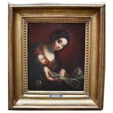 Spanish Baroque Period Madonna and Christ Child c1680