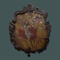 17th Century Christ Ascending Plaque Italian / French