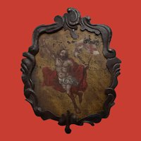 17th Century Christ Ascending Plaque Italian / French