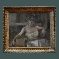 Late 19th Century French Impressionist Period Oil Study