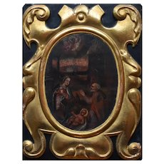 French School c1680 Nativity Oil on Canvas The Ultimate Christmas Decoration