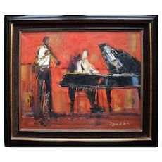 Guy TOUBON (1931) Piano & Clarinet Duet French Post Impressionist