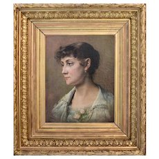 Charles Joseph VAN LANDUYT (1854-1934) Malvina 1882 Oil Painting