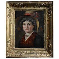 """Swiss School Portrait c1800 Inscribed """"Johann Biedermann 1763-1830"""" Oil Painting"""