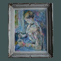 Max AGOSTINI (1914-1997) French Contemporary Impressionist Oil Painting