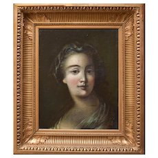 Late 18th Century Portrait c1795 French School Oil Painting