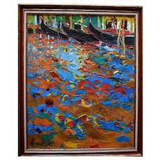 Manuel GIL (1944) Venice 1985 French Post Impressionist