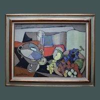 CLÉMENT-SERVEAU (1886-1972) French Post Cubist Oil Painting