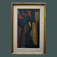 Bernard DUFOUR (1922-2016) French Abstract 1952 Urwald VI