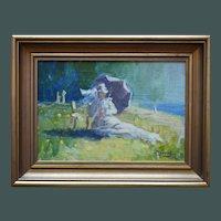 M JUNOT Danish School Mid 20th Century Oil Painting